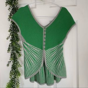 Moth by Anthropologie gray and green sleeveless